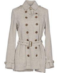 Burberry Brit - Overcoat - Lyst