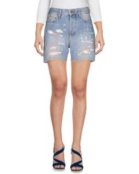 M. Grifoni Denim - Denim Shorts - Lyst