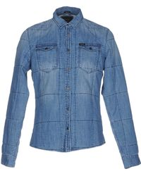 Guess - Denim Shirt - Lyst
