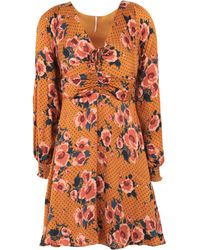 Free People - Morning Light Floral Mini Dress - Womens Uk 6 - Lyst