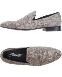 Eveet - Textured Velvet Loafers - Lyst