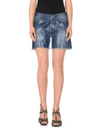 Space Style Concept - Denim Shorts - Lyst