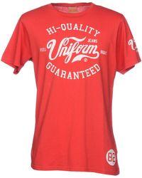 UNIFORM - T-shirt - Lyst