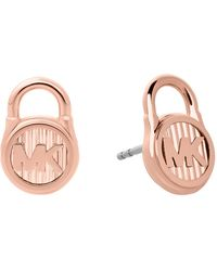 Michael Kors - Padlock Stud Earrings - Lyst
