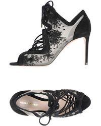 Nicholas Kirkwood - Phoenix Black Embroidered Sandal - Lyst