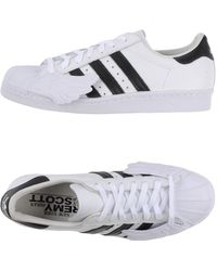 f0e5dc379f17 Lyst - Jeremy Scott For Adidas Superstar 80s Ripple Sneakers White ...