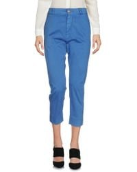 People - (+) People 3/4-length Trousers - Lyst
