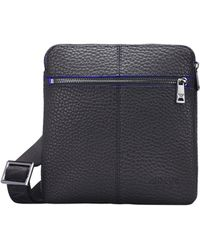 Lyst - Armani Jeans Woven Print Eco Leather Cross Body Bag in Black ... 4f0c84d785ce7