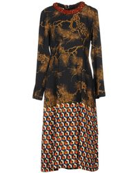 Dries Van Noten - 3/4 Length Dress - Lyst