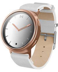 Misfit - Phase Leather-strap Hybrid Smart Watch - Lyst