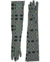 2c43382856bbf Prada Exklusiv bei Mytheresa – Handschuhe aus Leder in Grün - Lyst