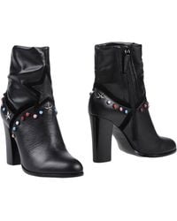 e3339473743ce Frankie Morello Studded Ankle Boots in Black - Lyst