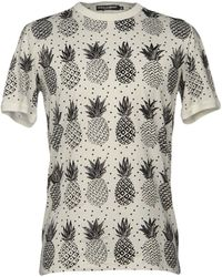 Dolce & Gabbana - Ananas Printed T-shirt - Lyst