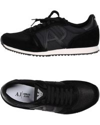 31e758c37c9 Lyst - Armani Jeans Logo Trainers in Black for Men
