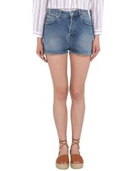 Department 5 - Denim Shorts - Lyst