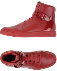 Balmain - Leather High-Top Trainers - Lyst
