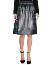 CafeNoir - Knee Length Skirt - Lyst