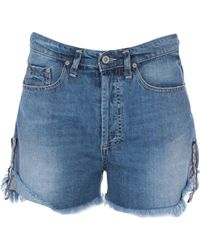 Please - Shorts jeans - Lyst