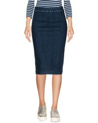 Manila Grace - Denim Skirt - Lyst