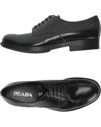 Prada Chaussures à lacets - Noir