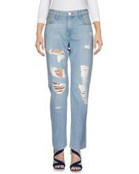 FRAME - Denim Trousers - Lyst