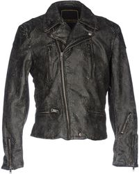 Denim and supply leather jacket
