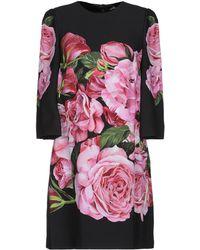 Dolce & Gabbana - Short Dress - Lyst