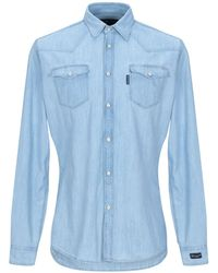 76ba63b9 Hydrogen Avvocato Camo Print Denim Western Shirt in Black for Men - Lyst