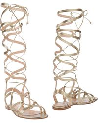 Gianvito Rossi - Metallic-Leather Gladiator Sandals - Lyst