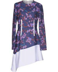 Carven - Floral Patterned Flared Dress - Lyst