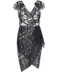 Marchesa notte - Knee-length Dress - Lyst