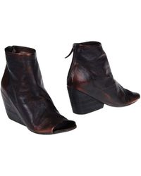 Marsèll - Wedge Leather Ankle Boots - Lyst