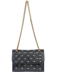 0692f938eb39 Lyst - Tory Burch Studded Hobo in Black