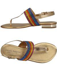 Chiara Pasquini - Toe Strap Sandal - Lyst