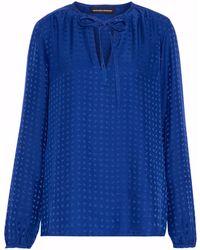 Vanessa Seward - Silk-jacquard Blouse Royal Blue - Lyst
