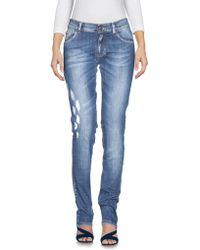 Balmain - Denim Trousers - Lyst