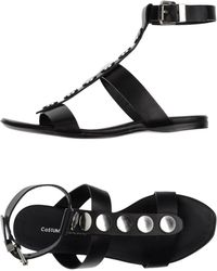 CoSTUME NATIONAL - Flat Sandals - Ankle T Strap - Lyst