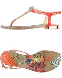 Fabi - Toe Strap Sandal - Lyst