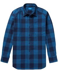 Beams Plus - Buffalo Checked Cotton-twill Shirt - Lyst