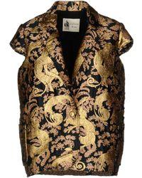 Lanvin - Animal Brocade Cap Sleeve Box Jacket - Lyst