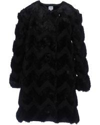 Armani - 'eco Fur' Coat - Lyst