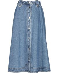 MSGM Denim Skirt - Blue
