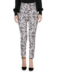 Miss Miss By Valentina - Casual Trousers - Lyst