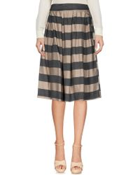 Twenty Easy By Kaos - Knee Length Skirt - Lyst