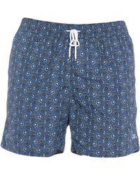 a1f37377cd Lyst - Ferragamo Crocodile Print Swim Shorts in Blue for Men