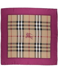 Burberry - Square Scarves - Lyst