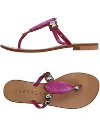 Apepazza - Toe Strap Sandal - Lyst