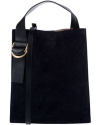 Shop Women s Jil Sander Navy Shoulder bags Online Sale 592078c14981e