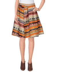Annie P - Knee Length Skirt - Lyst