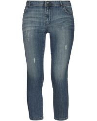 Pianurastudio Denim Capris - Blue